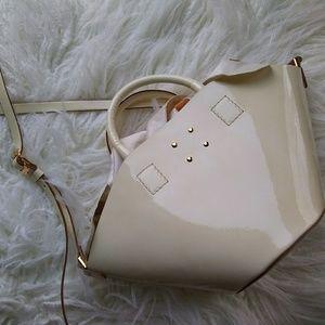 Trademark Patent Small Basket Bag- Cream